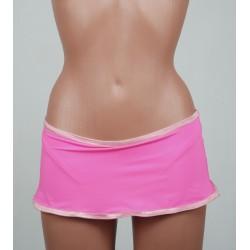 Dark pink skirt biquini
